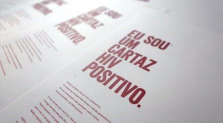 Um cartaz HIV positivo